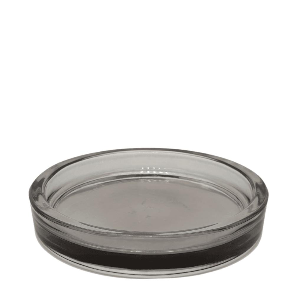 Coupelle en verre gris transparent