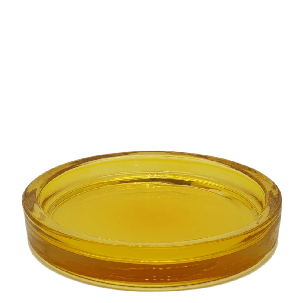Coupelle en verre jaune transparent