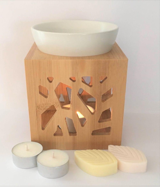 """""""Brûleur Bambou Design Blanc"""" Collection de Noël 1"""