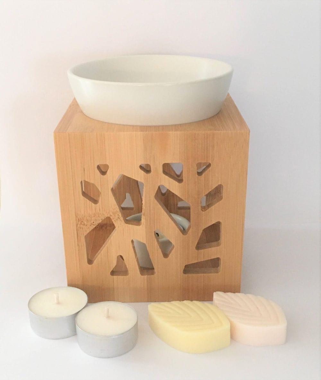 """""""Brûleur Bambou Design Blanc"""" Collection de Noël 3"""